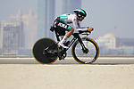 Cesare Benedetti (ITA) Bora-Hansgrohe during Stage 2 of the 2021 UAE Tour an individual time trial running 13km around  Al Hudayriyat Island, Abu Dhabi, UAE. 22nd February 2021.  <br /> Picture: Eoin Clarke | Cyclefile<br /> <br /> All photos usage must carry mandatory copyright credit (© Cyclefile | Eoin Clarke)