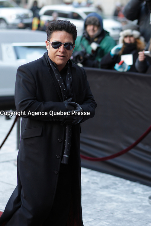 Eric Lapointe attend the funeral of Rene Angelil, , Friday Jan. 22, 2016 at Notre-Dame Basilica in Montreal, Canada.<br /> <br /> <br /> <br /> <br /> <br /> <br /> <br /> <br /> <br /> <br /> <br /> <br /> <br /> .