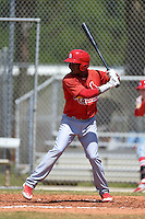 St. Louis Cardinals Magneuris Sierra (7) during a minor league spring training game against the Miami Marlins on March 31, 2015 at the Roger Dean Complex in Jupiter, Florida.  (Mike Janes/Four Seam Images)