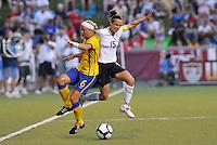 Sara Thunebro #6, Kate Markgraf...USWNT tied Sweden 1-1 at Morison Stadium, Nebraska.