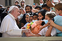 Pope Francis public audience at the San Damaso courtyard in The Vatican on June 30, 2021.