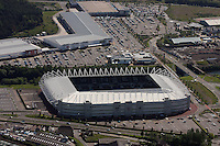 Aerial view of the Liberty Stadium, home ground for Swansea City Football Club at Morfa, Swansea, south Wales