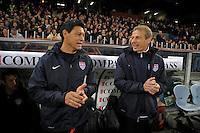 GENOVA, ITALY - February 29, 2012: Head coach Juergen Klinsmann (USA), during the friendly match, Italy against USA at the Stadium Luigi Ferraris in Genova, Italy.