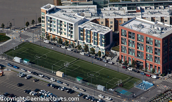 aerial photograph of SFF Soccer Fields, Mission Bay Blvd, Mission Bay, San Francisco, California