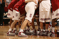 4 March 2006: The team with their Nike shoes during Stanford's 75-54 loss to the UCLA Bruins at Maples Pavilion in Stanford, CA.