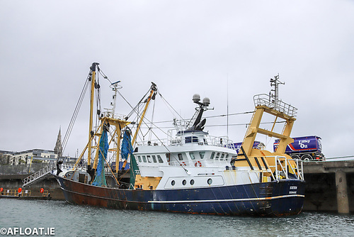 A Belgian trawler from Zeebruge berthed at Dun Laoghaire's Carlisle Pier