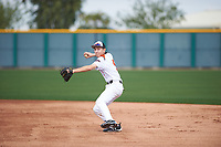 Nicholas Broshears (5) of Cerritos Hs High School in Cerritos, California during the Under Armour All-American Pre-Season Tournament presented by Baseball Factory on January 14, 2017 at Sloan Park in Mesa, Arizona.  (Zac Lucy/MJP/Four Seam Images)