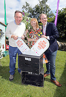 Pictured L-R: MP Nick Smith, Maria Golightly and Phillip Turvil Saturday 13 August 2016<br />