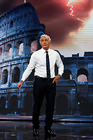Massimo Giletti, TV host of the tv show Non e' l'arena and in the background on the screen the Colosseum. Giletti will probably be the candidate mayor of Rome for the centre-right party.<br /> Rome (Italy), October 11th 2020<br /> Photo Samantha Zucchi Insidefoto