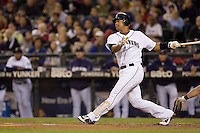 September 24, 2008: Seattle Mariners Jose Lopez at-bat during a game against the Los Angeles Angels of Anaheim at Safeco Field in Seattle, Washington.