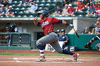 Lehigh Valley IronPigs right fielder Alfredo Marte (31) during a game against the Columbus Clippers on May 12, 2016 at Huntington Park in Columbus, Ohio.  Lehigh Valley defeated Columbus 2-1.  (Mike Janes/Four Seam Images)