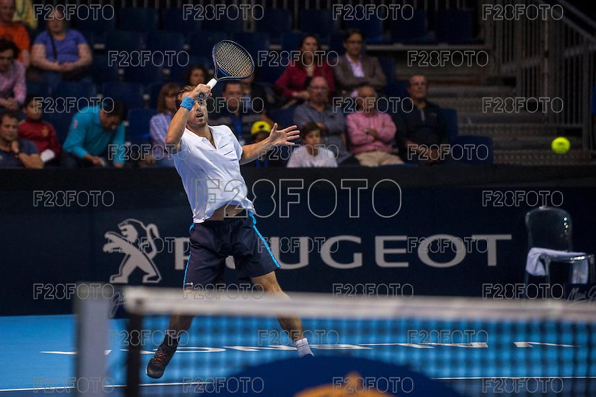 VALENCIA, SPAIN - OCTOBER 28: Oliver Marach during Valencia Open Tennis 2015 on October 28, 2015 in Valencia , Spain