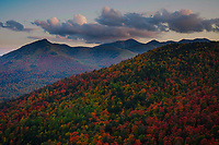 View from Snow Mt at sunset in the High Peaks Region in the Adirondack Mountains in New York State