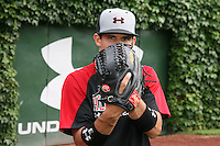 August 7, 2009:  Pitcher Cayle Shambaugh (3) of the Baseball Factory team during the Under Armour All-America event at Wrigley Field in Chicago, IL.  Photo By Mike Janes/Four Seam Images