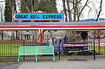 Kids Train Ride.  Located adjacent to Oaks Bottom Wildlife Refuge on the Willamette River in downtown Portland, Oregon this park was closed for winter when photographed.  It provides a wonderful contrast to the adjacent natural wildlife area and also adjoins sandy river beaches.