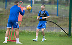 St Johnstone Training…04.09.19<br />Jason Holt pictured during training at McDiarmid Park with Jason Kerr<br />Picture by Graeme Hart.<br />Copyright Perthshire Picture Agency<br />Tel: 01738 623350  Mobile: 07990 594431