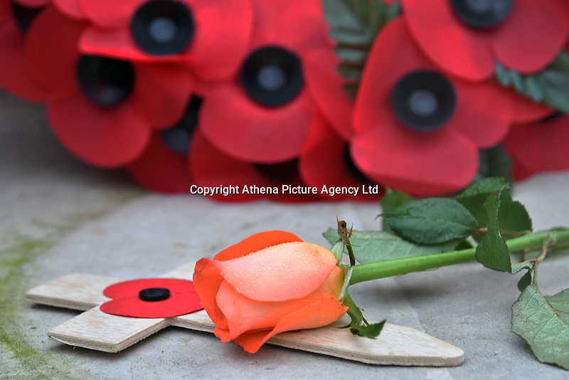 Saturday 11 November 2017<br /> Re: Armistice Day, two minutes were observed to mark remembrance at Pembroke Dock Military cemetery, west Wales, UK.