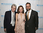 """Ted Chapin, Laura Osnes and Fred Lassen during The """"Mr. Abbott"""" Award 2019 at The Metropolitan Club on 3/25/2019 in New York City."""