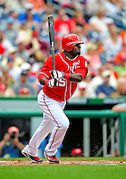 24 May 2009: Washington Nationals' shortstop Cristian Guzman in action against the Baltimore Orioles at Nationals Park in Washington, DC. The Nationals rallied to defeat the Orioles 8-5 and salvage one win of their interleague series. Mandatory Credit: Ed Wolfstein Photo
