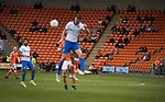 Home fans watching the second-half action at a near-deserted Bloomfield Road stadium as Blackpool hosted Portsmouth in an English League One fixture. The match was proceeded by a protest by around 500 home fans against the club's controversial owners Owen Oyston, many of whom did not attend the game. The match was won by the visitors by 2-1 with two goals by Ronan Curtis watched by just 4,154 almost half of which were Portsmouth supporters.