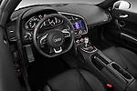 High angle dashboard view of a 2009 - 2012 Audi R8 V10 FSI Coupe.