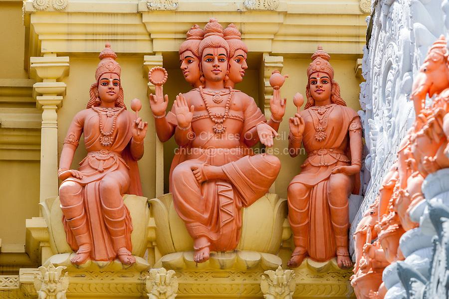 Hindu Deities outside Entrance to Sri Senpaga Vinayagar Hindu Ganesh Temple, Joo Chiat District, Singapore.