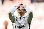 James Rodriguez of Real Madrid reacts during their La Liga match between Real Madrid and Granada CF at the Santiago Bernabeu Stadium on 07 January 2017 in Madrid, Spain. Photo by Diego Gonzalez Souto / Power Sport Images