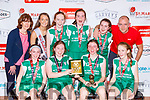 The TK Bobcats team celebrate after winning the u14 Girls final against St Marys at the St Marys Basketball Blitz on Monday front row l-r: Rachel Creedon, Kate Collins,  Eabhs  Ni Laighin, Laura Sugrue, Back  row Nessa Sugrue, Aoibhin Broderick, Rachel Griffin, Orla OConnor,