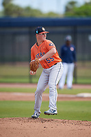 Houston Astros pitcher Trent Thornton (55) during a Minor League Spring Training Intrasquad game on March 28, 2018 at FITTEAM Ballpark of the Palm Beaches in West Palm Beach, Florida.  (Mike Janes/Four Seam Images)