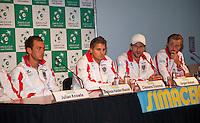 11-sept.-2013,Netherlands, Groningen,  Martini Plaza, Tennis, DavisCup Netherlands-Austria, Press conference Austrian Team<br /> Photo: Henk Koster