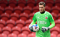 Fleetwood Town's Jayson Leutwiler<br /> <br /> Photographer Chris Vaughan/CameraSport<br /> <br /> The EFL Sky Bet League One - Fleetwood Town v Lincoln City - Saturday 17th October 2020 - Highbury Stadium - Fleetwood<br /> <br /> World Copyright © 2020 CameraSport. All rights reserved. 43 Linden Ave. Countesthorpe. Leicester. England. LE8 5PG - Tel: +44 (0) 116 277 4147 - admin@camerasport.com - www.camerasport.com