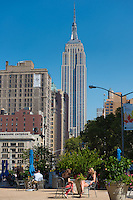 Worth Square and Empire State Building in the back, New York