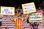 FC Barcelona's supporters during La Liga match. August 15, 2021. (ALTERPHOTOS/Acero)