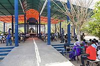 SENEGAL, Benedictine monastery Keur Moussa, holy mass open air / Senegal, Benediktinerkloster Keur Moussa, Sonntagsmesse im Freien