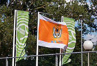 August 24, 2014, Netherlands, Amstelveen, De Kegel, National Veterans Championships, flags<br /> <br /> Photo: Tennisimages/Henk Koster