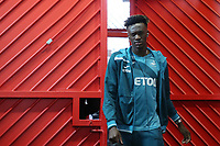 Tammy Abraham of Swansea City arrives at Old Trafford prior to the Premier League match between Manchester United and Swansea City at the Old Trafford, Manchester, England, UK. Saturday 31 March 2018