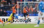 St Johnstone v Dundee United...09.05.15   SPFL<br /> John Rankin scores for Dundee United<br /> Picture by Graeme Hart.<br /> Copyright Perthshire Picture Agency<br /> Tel: 01738 623350  Mobile: 07990 594431