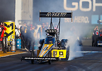 Jul 28, 2017; Sonoma, CA, USA; NHRA top fuel driver Tony Schumacher during qualifying for the Sonoma Nationals at Sonoma Raceway. Mandatory Credit: Mark J. Rebilas-USA TODAY Sports
