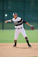 Luke Storm (32) during the WWBA World Championship at the Roger Dean Complex on October 10, 2019 in Jupiter, Florida.  Luke Storm attends Easton Area High School in Easton, PA and is committed to Duke.  (Mike Janes/Four Seam Images)