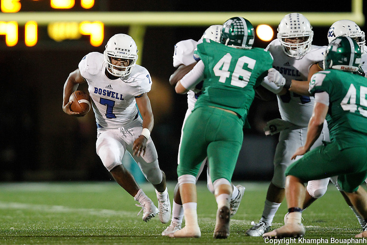 Boswell plays Azle in district 5-5A high school football at Azle on Friday, September 25, 2015. Azle won 34-24. (photo by Khampha Bouaphanh)
