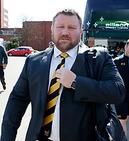 Photo: Richard Lane/Richard Lane Photography. Tigers v Wasps. Aviva Premiership. 25/03/2018. Wasps' DOR, Day Young arrives for the match.