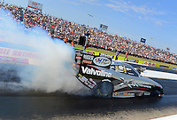 Sept. 21, 2012; Ennis, TX, USA: NHRA funny car driver Jack Beckman during qualifying for the Fall Nationals at the Texas Motorplex. Mandatory Credit: Mark J. Rebilas-US PRESSWIRE