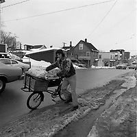 delivery boy for a<br /> convenience store<br /> in Hull or Ottawa  , circa 1975