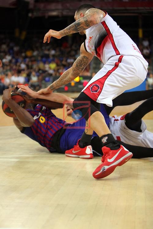 League ACB-ENDESA 201/2019.Game 38.<br /> PlayOff Semifinals.1st match.<br /> FC Barcelona Lassa vs Tecnyconta Zaragoza: 101-59.<br /> Chris Singleton.
