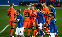 Netherlands's Donny van de Beek, third from left, celebrates with his teammates after scoring during the UEFA Nations League football match between Italy and Netherlands at Bergamo's Atleti Azzurri d'Italia stadium, October 14, 2020.<br /> UPDATE IMAGES PRESS/Isabella Bonotto