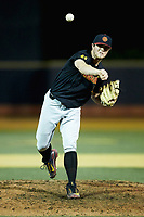 USC Trojans relief pitcher Chris Clarke (44) delivers a pitch to the plate against the Wake Forest Demon Deacons at David F. Couch Ballpark on February 24, 2017 in  Winston-Salem, North Carolina.  The Demon Deacons defeated the Trojans 15-5.  (Brian Westerholt/Four Seam Images)