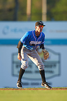 Hudson Valley Renegades second baseman Miles Mastrobuoni (9) during a game against the Batavia Muckdogs on August 2, 2016 at Dwyer Stadium in Batavia, New York.  Batavia defeated Hudson Valley 2-1.  (Mike Janes/Four Seam Images)