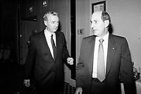 Montreal (QC) Canada- 1988 File Photo -Montreal (QC) Canada- April 25 1988 File Photo - Canadian Club -  - Paul Desmarais (Senior)<br /> <br /> PHOTO :  Agence Quebec Presse