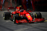 55 SAINZ Carlos (spa), Scuderia Ferrari SF21, action during the Formula 1 Azerbaijan Grand Prix 2021 from June 04 to 06, 2021 on the Baku City Circuit, in Baku, Azerbaijan <br /> FORMULA 1 : Grand Prix Azerbaijan <br /> 05/06/2021 <br /> Photo DPPI/Panoramic/Insidefoto <br /> ITALY ONLY