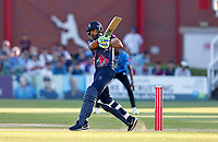 Safyaan Sharif hits out for Kent during Kent Spitfires vs Sussex Sharks, Vitality Blast T20 Cricket at The Spitfire Ground on 18th July 2021